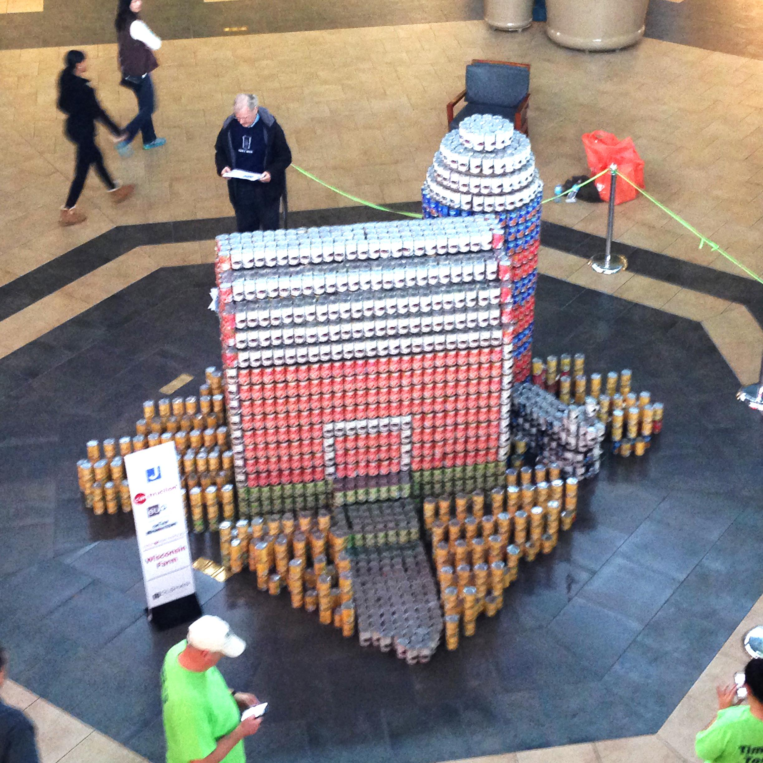 EUA + Graef are Wisconsin Proud in the 2016 CANstruction Competition Slide Image