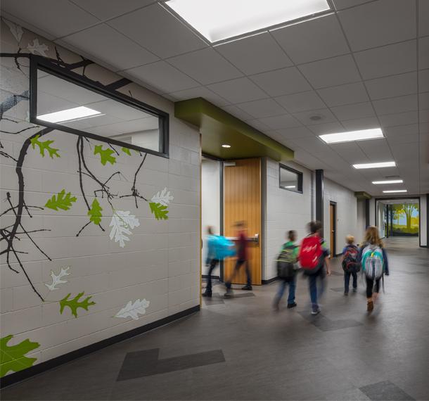 Corridor Design Color: Oak Creek Forest Ridge Elementary School