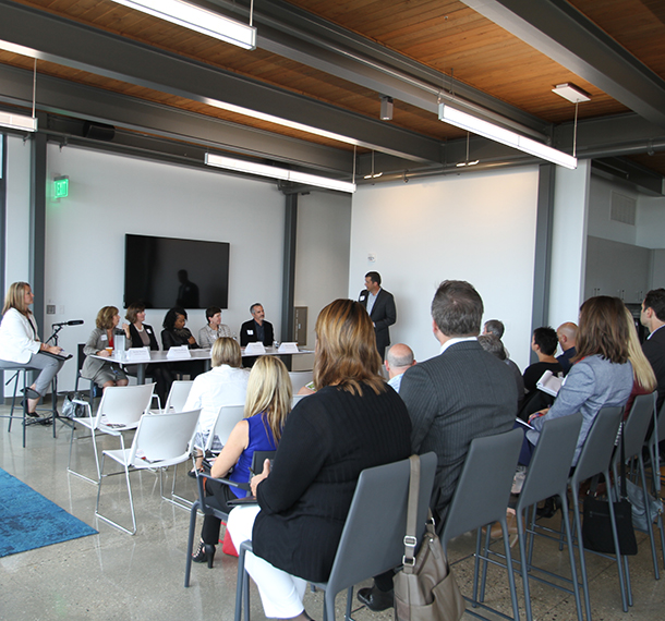 Workplace Panel Discussions : Attracting + Retaining Talent slide