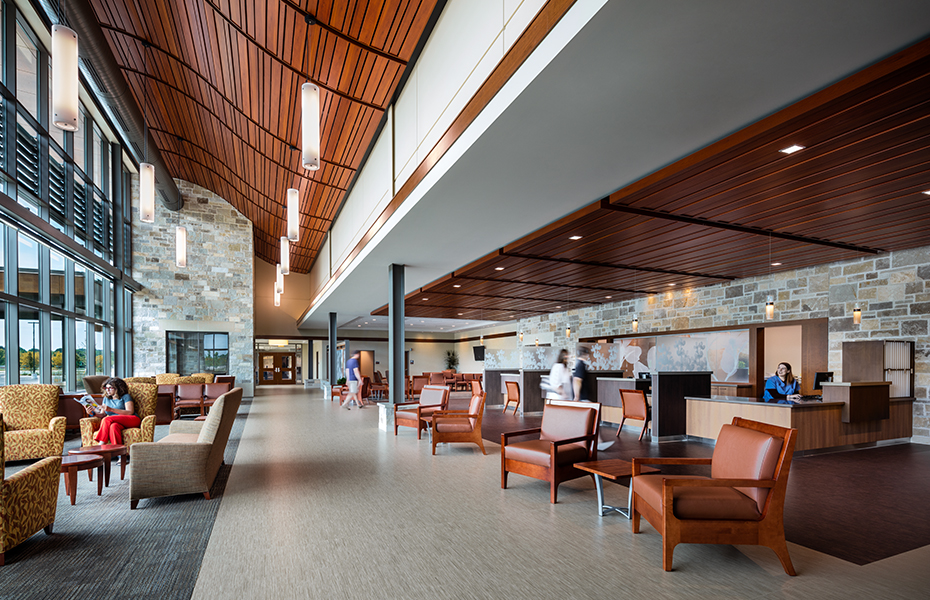 Warm and inviting healthcare design