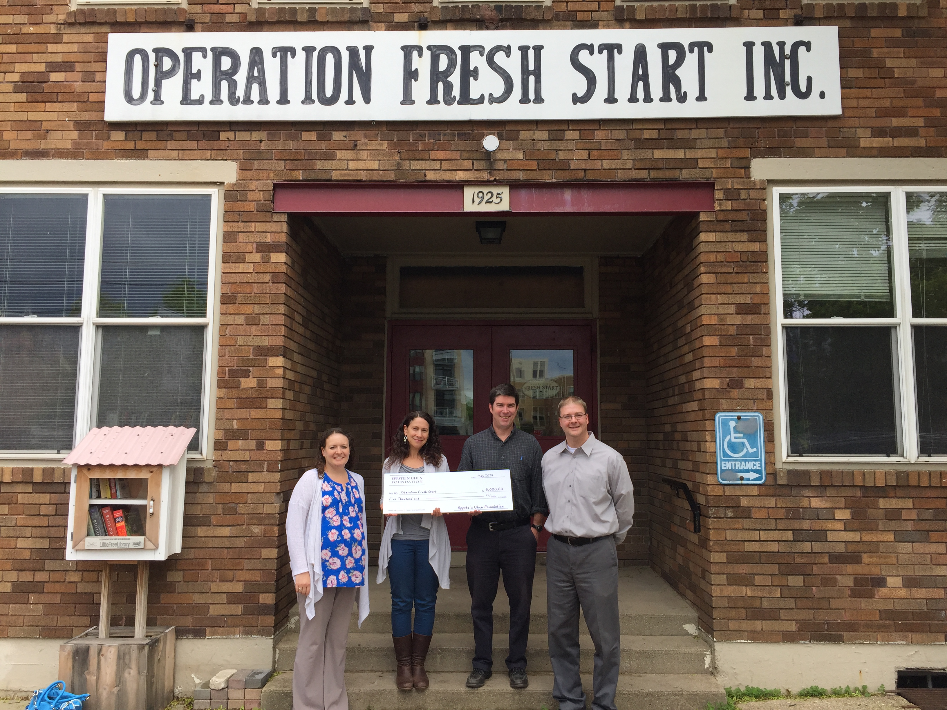 EUA Presents Check to Operation Fresh Start Slide Image