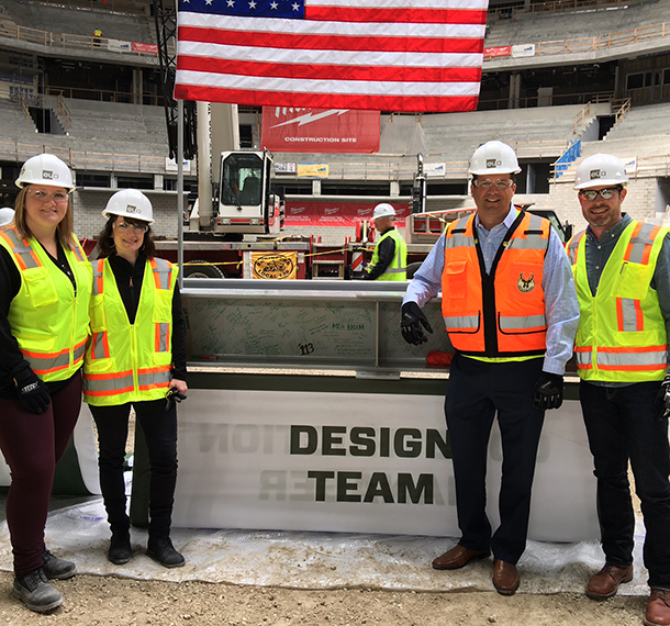 Milwaukee Bucks Arena Topping Off Ceremony slide