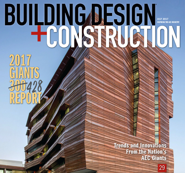 Eppstein Uhen Architects places in Top 50 on BD+C Giants Report for Two Consecutive Years Slide Image