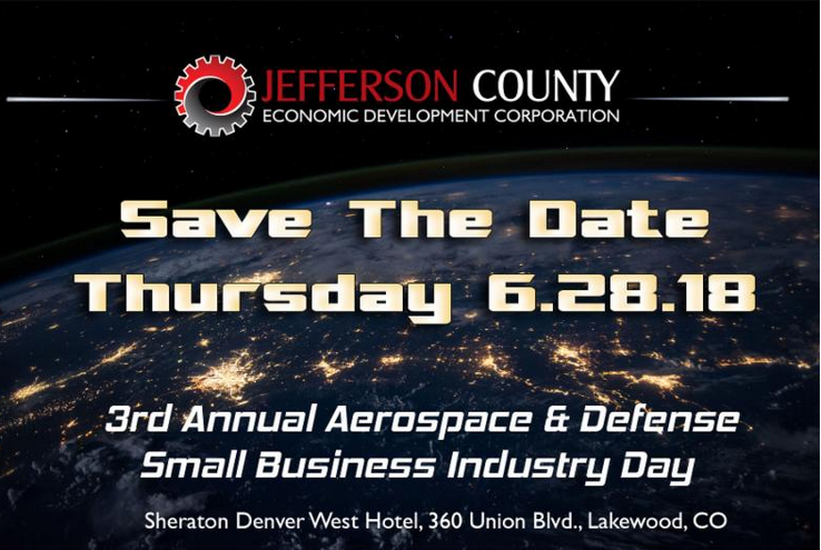 JeffCo's Aerospace and Defense Small Business Industry Day Slide Image