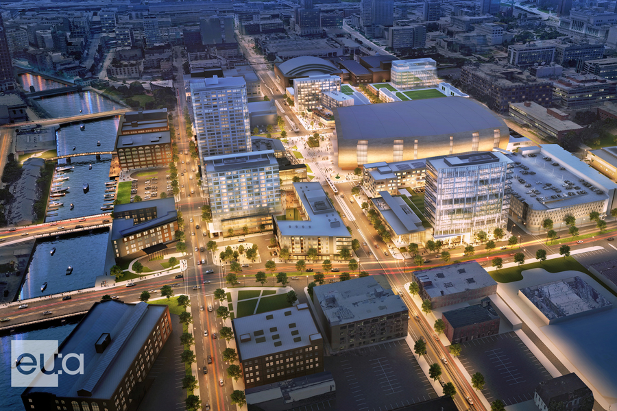 Planned development could bring hotels, office, residential space to area surrounding Fiserv Forum Banner Image