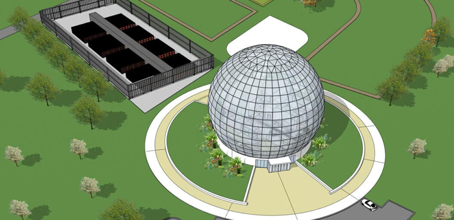 Foxconn plans to build spherical-shaped building at Mount Pleasant campus Banner Image