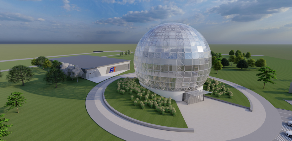 Foxconn seeks approval for data center, 100-foot-tall glass globe operations center Banner Image