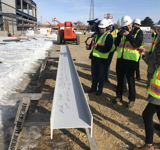 Sub-Zero Group Project Team Celebrates Beam Signing slide