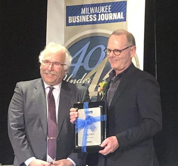 Greg Uhen Inducted Into Milwaukee Business Journal's 40 under 40 Hall of Fame slide
