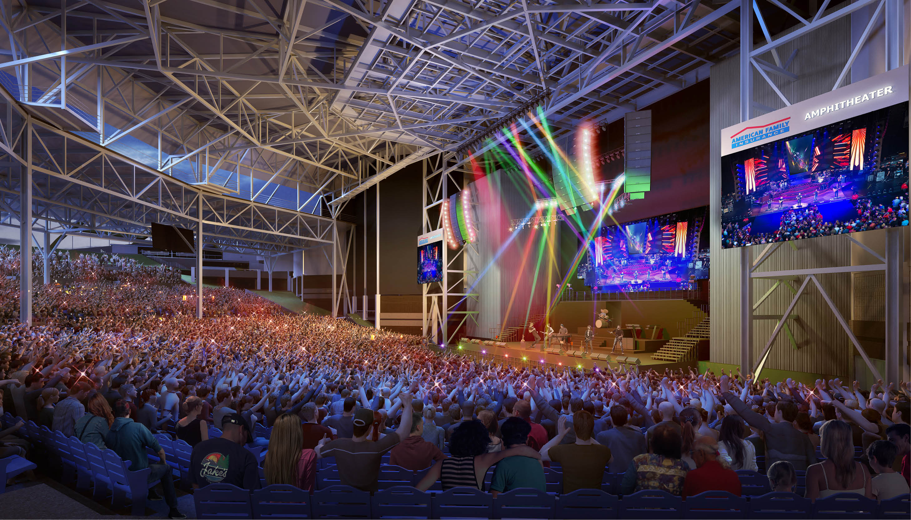 Progress report: Phase two of the AmFam Amphitheater Image