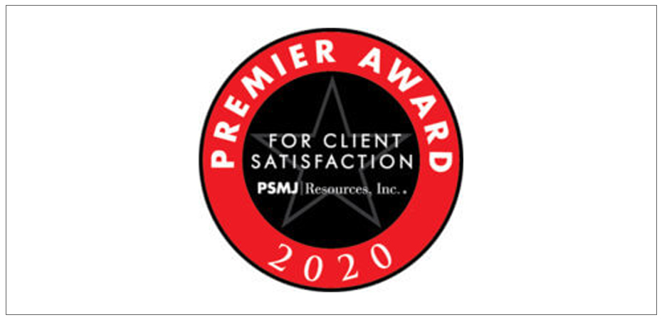 EUA Wins the PSMJ Premier Award for Client Satisfaction Image