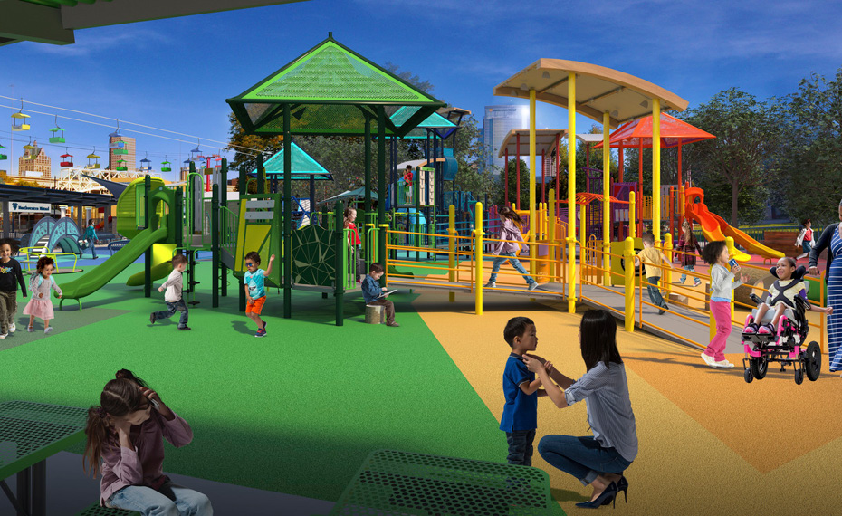 Milwaukee World Festival, Inc. Announces Redevelopment of  Northwestern Mutual Children's Theater & Playzone as Community Park slide